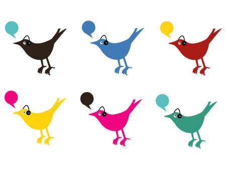 Colorful Twitter Birds
