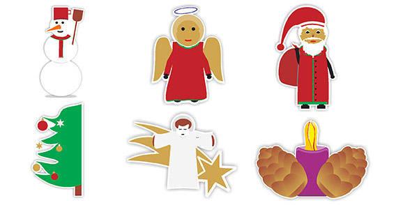Christmas heroes free vector