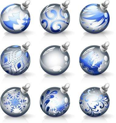 free vector Decorative Christmas Ball