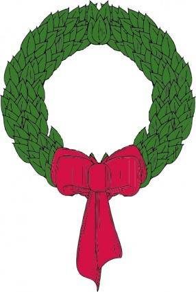 free vector Christmas Wreath clip art