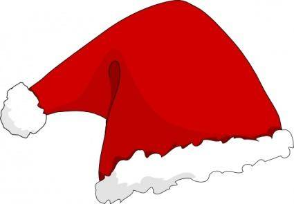 free vector Clothing Santa Hat clip art