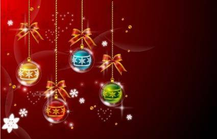 Christmas Balls Decoration Vector Background