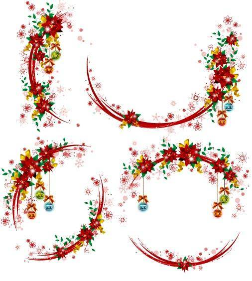 free vector Christmas Wreaths 3