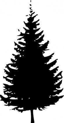 free vector Tree Silhouette clip art