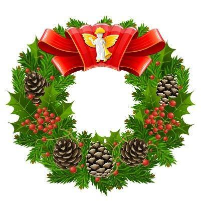 free vector Christmas wreath