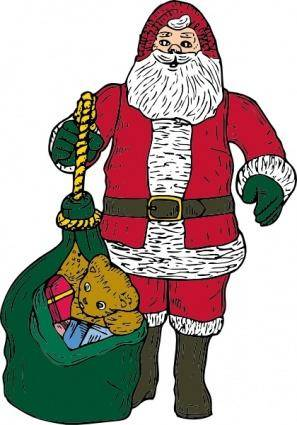 free vector Santa Christmas Presents clip art