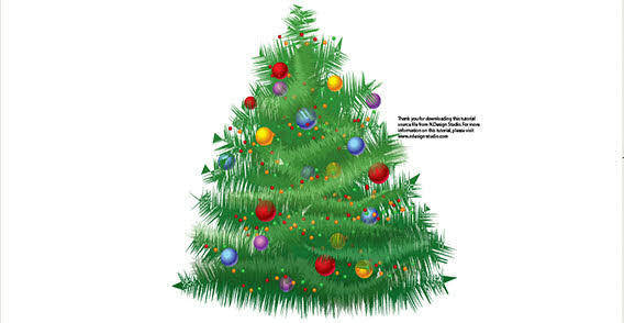 Big Christmas tree free vector
