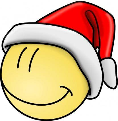 Smiley Santa Face clip art