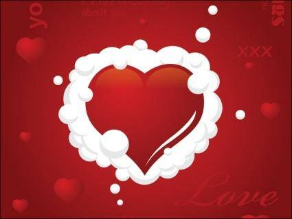 free vector Clouded Heart Vector