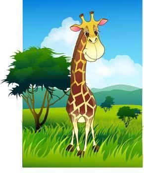 free vector Giraflfe 5