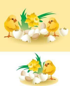 free vector Little Chicken vector 1