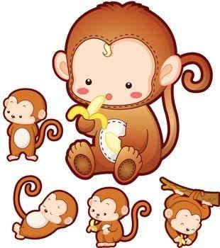 free vector Monkey 22