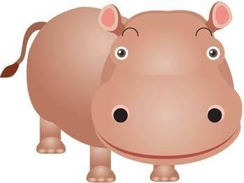 Hippopotamus vector 3