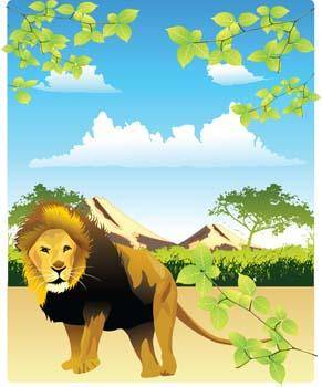 free vector Lion 15