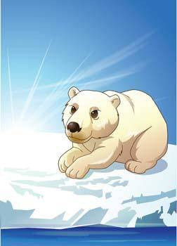 free vector Polar bear 4