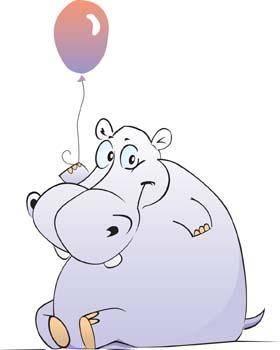 Hippopotamus vector 7
