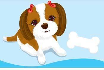 Puppy vector 4