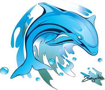 free vector Dolphin Vector 10