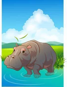 Hippopotamus vector 6
