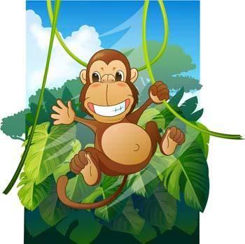 free vector Monkey 27