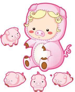 free vector Pig 46