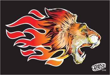 free vector Lion 4