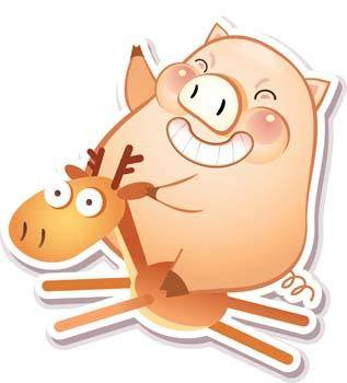 free vector Pig 7