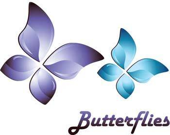 free vector 3d butterfly vector, 3d adobe illustrator vector, 3d animal vector, 3d ai vector