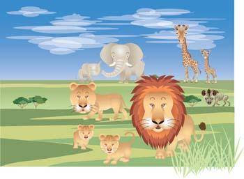 free vector Lion 8