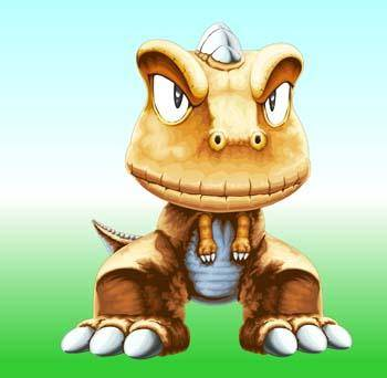 free vector Cartoon small dinosaur