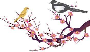 free vector Birds on Twig
