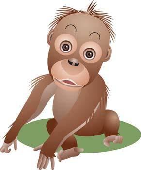 free vector Monkey 12