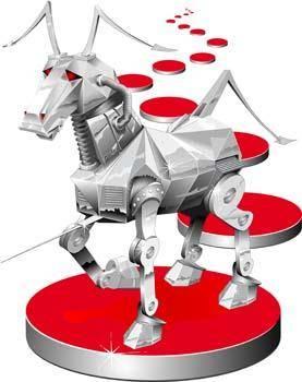 Iron vector horse