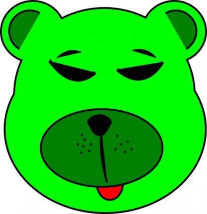 free vector Green Bear clip art