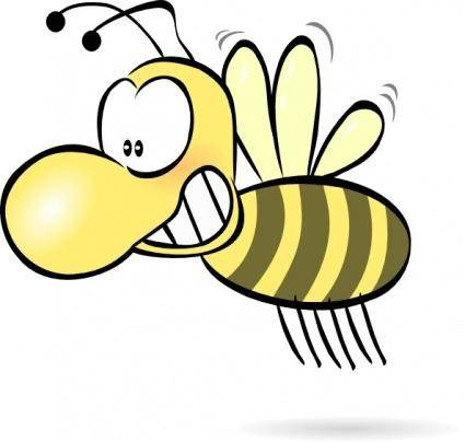free vector Bee1 clip art