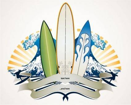 free vector Surf Banner