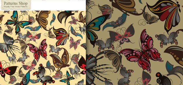 free vector Butterfly Wallpaper Vector
