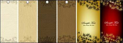 free vector Tag and the banner pattern vector