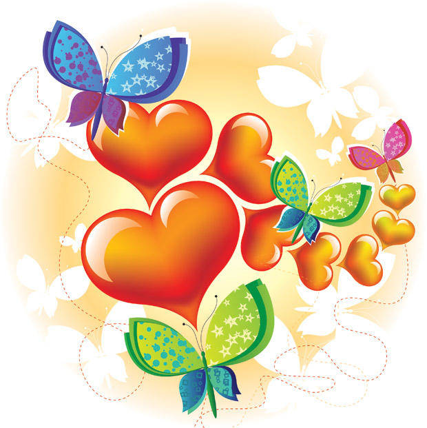 free vector Love Butterfly Vector Graphic Abstract Animals Background