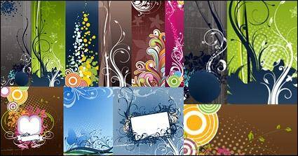 free vector Variety of practical fashion trend of the background pattern vector material
