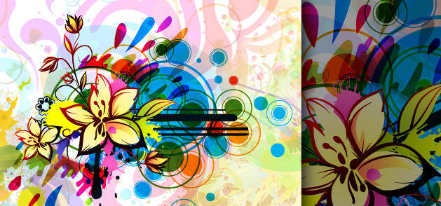 free vector Colorful Flower Background Vector