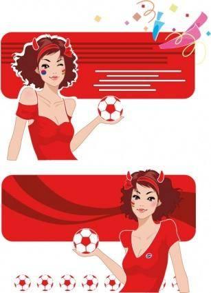 free vector Soccer Banner