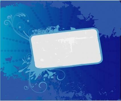 free vector Blue Grunge Banner