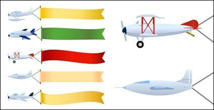 free vector Vector banner towing aircraft material