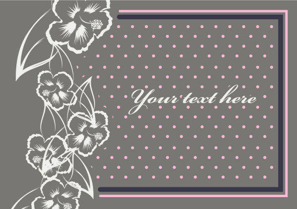 Fine Pattern Border Background 09 - Vector Beautiful Patterns Borders