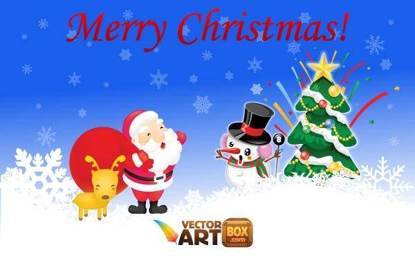 Free Christmas Vectors Christmas Vector Santa