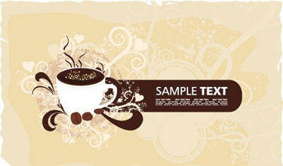 free vector Banner with coffeecup