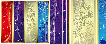 free vector Dream banner-shaped vertical pattern vector material