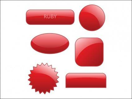 free vector Collection of 90 Glossy Web 2.0 Style Buttons