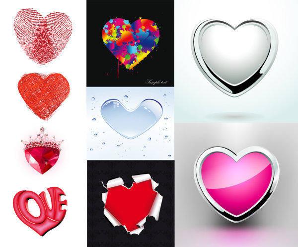 free vector Heart-shaped Element Pattern Vector Material Peach Heart Heart-shaped Romance